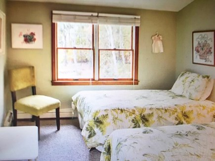 Eastham Cape Cod vacation rental - Two twin bedroom with tropical bedspreads and unique wall decor.