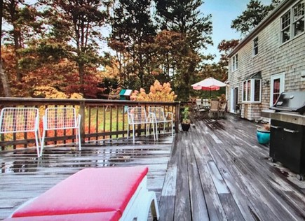 Eastham Cape Cod vacation rental - Huge deck spans the back of the house connecting to the studio.