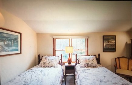 Eastham Cape Cod vacation rental - Two twin beds in upstairs bedroom; antique decor.
