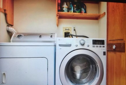 Eastham Cape Cod vacation rental - Laundry area is on the second floor behind bi-fold doors.