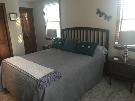 Eastham Cape Cod vacation rental - First floor Master Bedroom with queen bed and ensuite bathroom.
