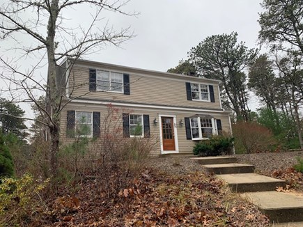 Eastham Cape Cod vacation rental - Front of house features new wood front door.  Studio is to left.