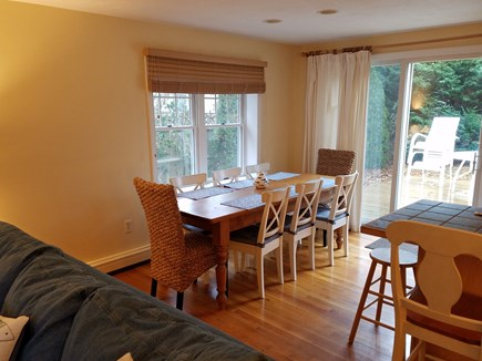 West Harwich Cape Cod vacation rental - Dining table seats 10  with slider to deck
