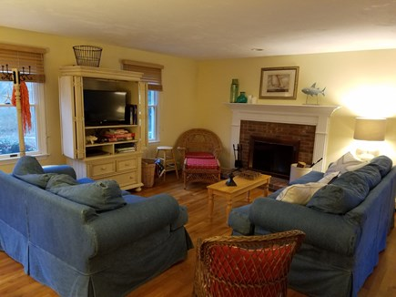 West Harwich Cape Cod vacation rental - Living area with flat screen T.V.