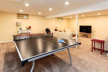 West Harwich Cape Cod vacation rental - Ping Pong table in finished basement