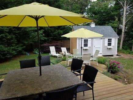 West Harwich Cape Cod vacation rental - Beautiful deck with seating for 12
