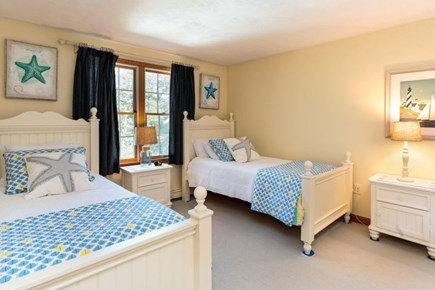 West Harwich Cape Cod vacation rental - 2nd floor bedroom with Queen and 2 twin beds - Twins