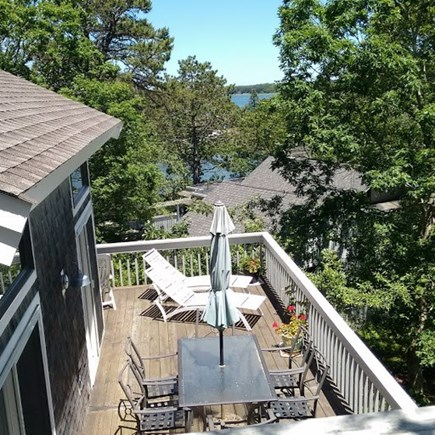 Summersea area of New Seabury New Seabury vacation rental - Lower Deck View from Upper Deck at Loft.