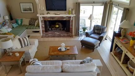 Summersea area of New Seabury New Seabury vacation rental - Living Room Area from Loft