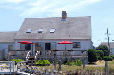 South Yarmouth Cape Cod vacation rental - View of Deck with ramp to Dock!!