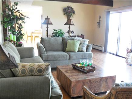 South Yarmouth Cape Cod vacation rental - Living Room and Dining area