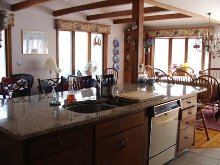Brewster Cape Cod vacation rental - Upstairs main kitchen/dining room/living room