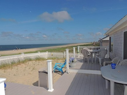 Sagamore Beach, Sandwich  Sagamore Beach vacation rental - Unobstructed, panoramic ocean and beach views from the deck.