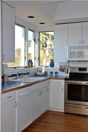 Wellfleet Harbor, on the Bluff Cape Cod vacation rental - Half the kitchen, views overlooking the bluff