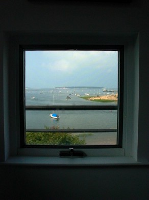Wellfleet Harbor, on the Bluff Cape Cod vacation rental - Like a painting view from your Master Bedroom pillow