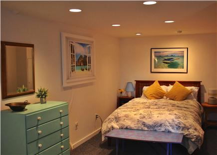Wellfleet Harbor, on the Bluff Cape Cod vacation rental - Queen Bedroom on Lower Level-also accessed from private entrance