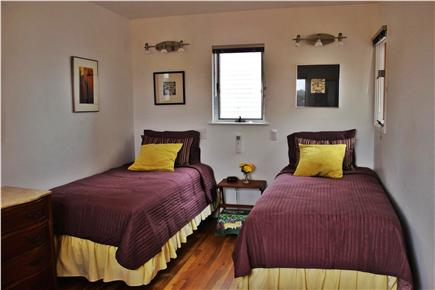 Wellfleet Harbor, on the Bluff Cape Cod vacation rental - Colorful double twin-bedded room, twice as big as it looks.