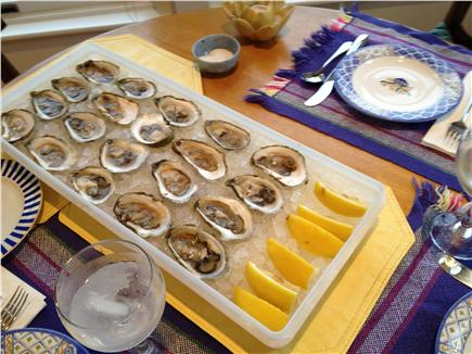 Wellfleet Harbor, on the Bluff Cape Cod vacation rental - Wellfleet Oysters: The Finest!
