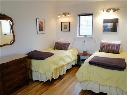 Wellfleet Harbor, on the Bluff Cape Cod vacation rental - Colorful double twin-bedded room, twice as big as it looks