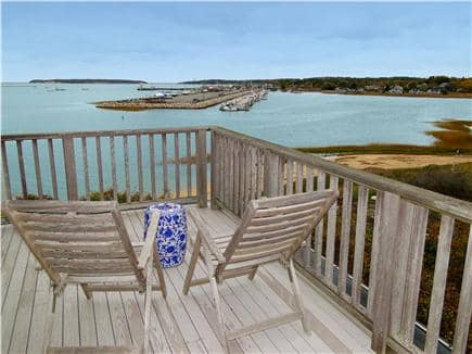 Wellfleet Harbor, on the Bluff Cape Cod vacation rental - View from the top deck – Stars and Romance