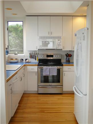 Wellfleet Harbor, on the Bluff Cape Cod vacation rental - Bright kitchen with all the appliances and supplies