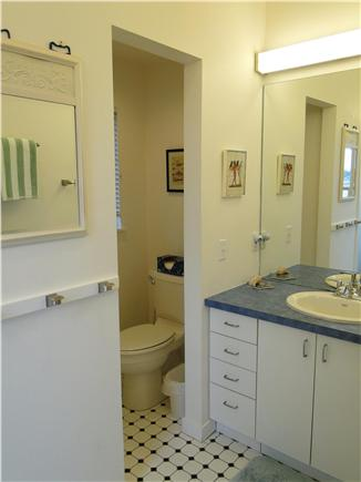Wellfleet Harbor, on the Bluff Cape Cod vacation rental - Upstairs bathroom with shower