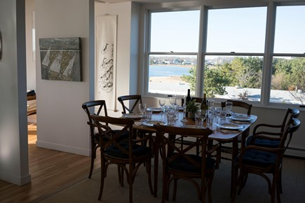 Wellfleet Harbor, on the Bluff Cape Cod vacation rental - The perfect place for family dinner and water views.