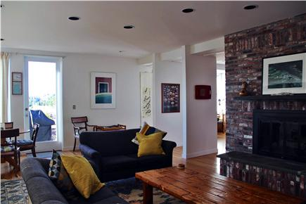 Wellfleet Harbor, on the Bluff Cape Cod vacation rental - More living room-Fireplace for cooler seasons, we provide wood