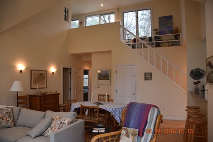 Wellfleet Cape Cod vacation rental - Stairs to roof deck which gets optimum sun through out the day.