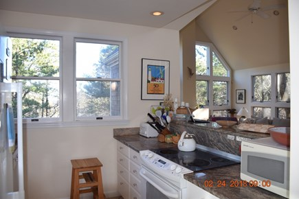Wellfleet Cape Cod vacation rental - Kitchen with new refrigerator.