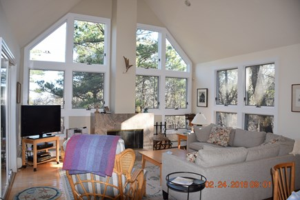 Wellfleet Cape Cod vacation rental - Living area with beautiful light and views