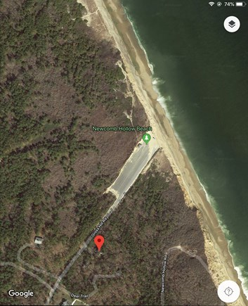 Wellfleet Cape Cod vacation rental - View of beach and house