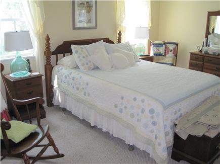 Falmouth Cape Cod vacation rental - Second-floor front-to-back master bedroom with desk and HDTV
