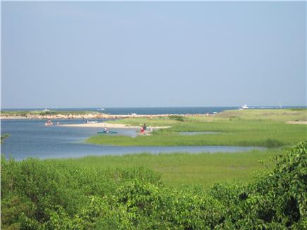 Falmouth Cape Cod vacation rental - Back of beach with shallow area for younger children to explore