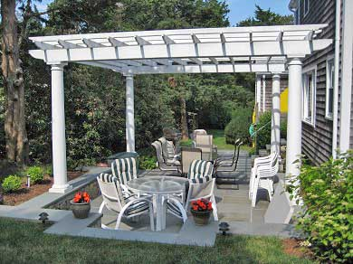 East Orleans Cape Cod vacation rental - Pergola and sunken patio