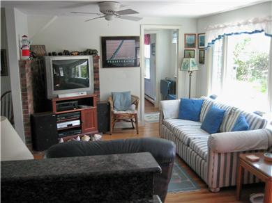 East Orleans Cape Cod vacation rental - View from kitchen into family/TV room
