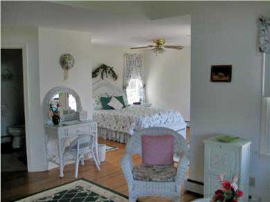 East Orleans Cape Cod vacation rental - Master bedroom, w/outside deck & sitting area - upstairs