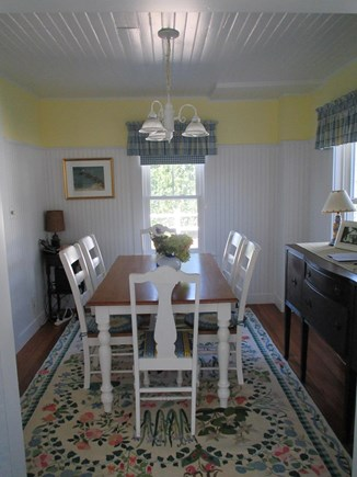 Harwich Port Cape Cod vacation rental - Dining Room next to kitchen seats 6.