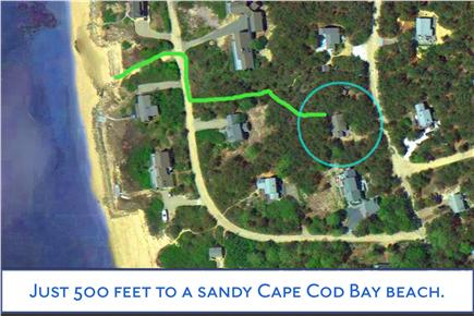 North Eastham Cape Cod vacation rental - Aerial view