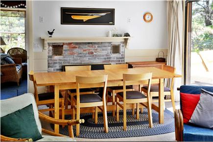 North Eastham Cape Cod vacation rental - Dining area (deck to the right, screened porch ahead)