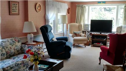 South Chatham Cape Cod vacation rental - South View of Spacious Living Room