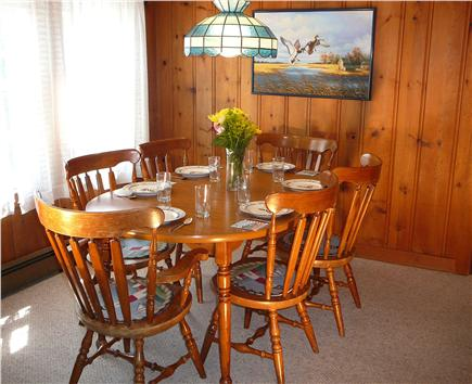 South Chatham Cape Cod vacation rental - Comfortable Dining Room for 8
