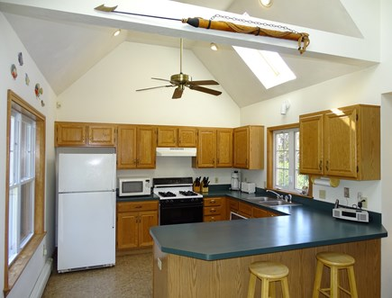 Brewster Cape Cod vacation rental - Modern kitchen with skylight and ceiling fan