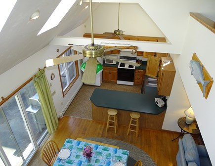 Brewster Cape Cod vacation rental - Vaulted dining room with slider to patio