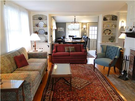 Harwich Port Cape Cod vacation rental - Comfortable Living Room Opens to Dining