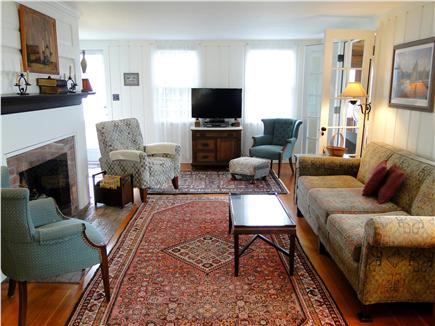 Harwich Port Cape Cod vacation rental - Bright Living Room Opens to Dining & 3 Season Porch