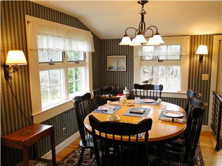 Harwich Port Cape Cod vacation rental - Sunny Dining Room  with View of  Yard