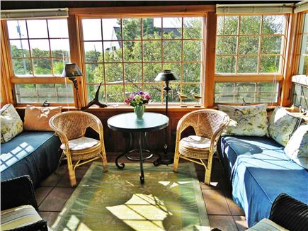 Harwich Port Cape Cod vacation rental - 3 Season Porch with View to Ocean