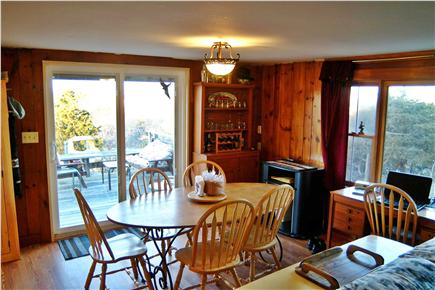 North Eastham Cape Cod vacation rental - Dining area with slider to deck