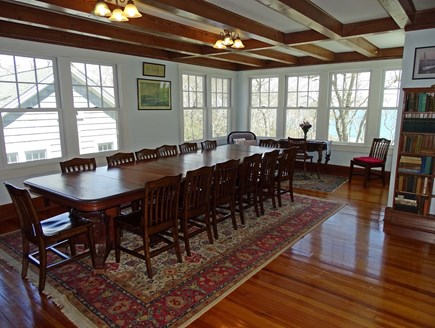 Woods Hole, Falmouth Woods Hole vacation rental - Dining room – a family favorite – with water views